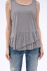 The Ruffle Tank in Grey