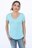 The V-Neck Tee in Crystal Blue