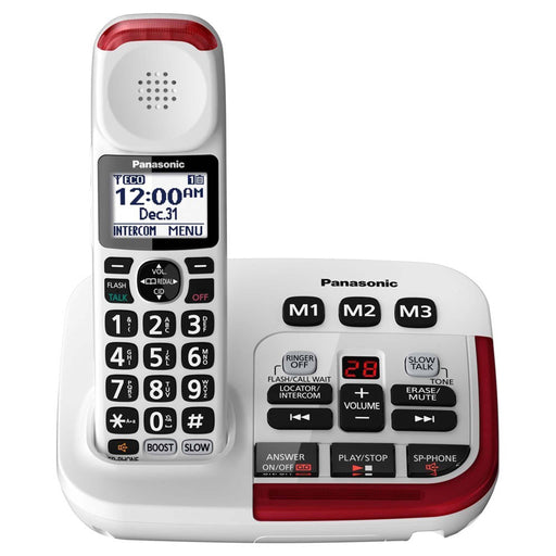 Panasonic KX-TGM470W Amplified Cordless Telephone White With Digital Answering Machine