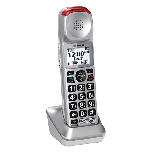 Panasonic KX-TGMA45S Amplified Phone Expansion Handset Only In Silver Works With Panasonic KX-TGM45S Phone Base
