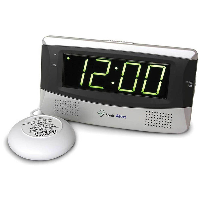 Sonic Alert Sonic Boom Vibrating Large Display Alarm Clock SB300SS