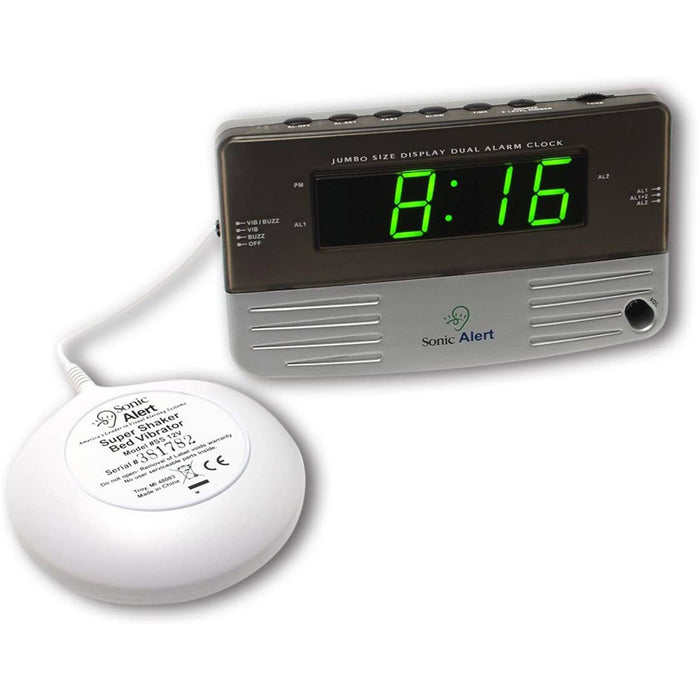 Sonic Boom Vibrating Travel Alarm Clock SB200ss
