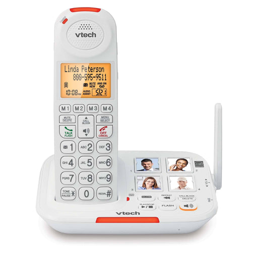 Vtech SN5127 Amplified Cordless Phone with Answering System, Big Buttons, Extra-Loud Ringer & Smart Call Blocker
