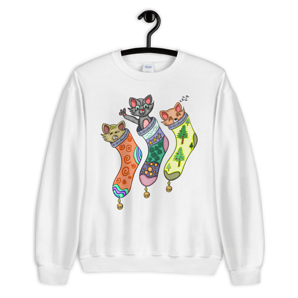 Cat In Stockings Sweatshirt