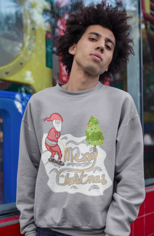 Merry Christmas Naughty Santa Style Sweatshirt