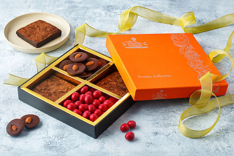 Orange 4 section gift box