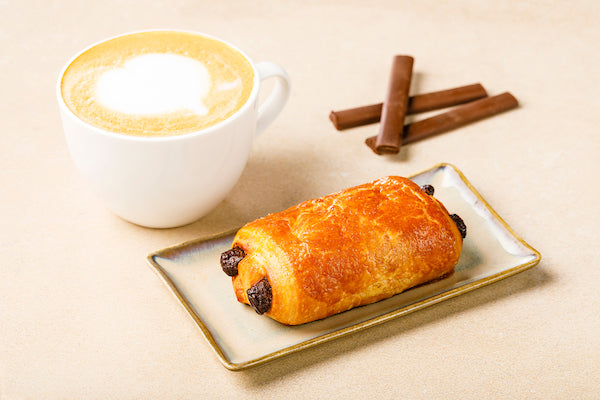 Chocolate Croissant and Cappuccino