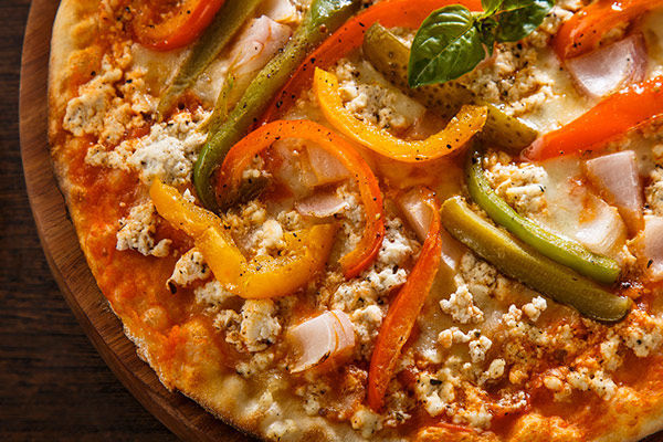 Crumbled Cottage Cheese Pizza