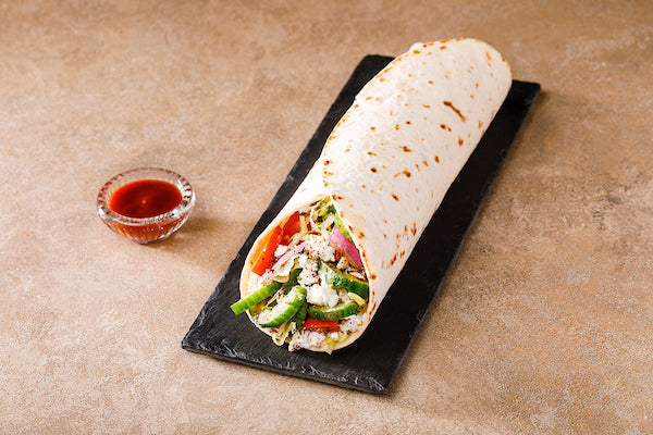 Healthy Greek Veg Wrap