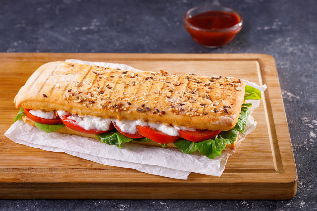 Tomato Bocconcini Rocket Leaves Sandwich