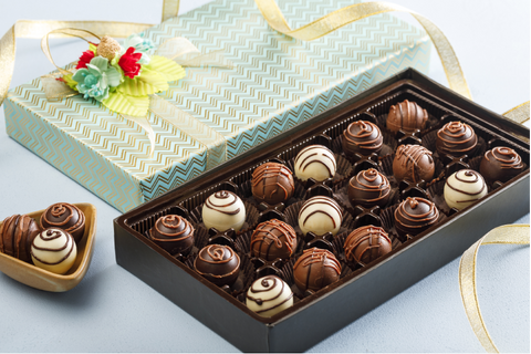 Assorted belgian truffle box