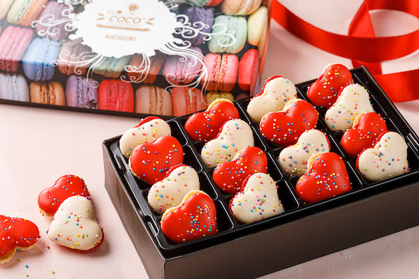 Heart shaped Valentine special macaron box