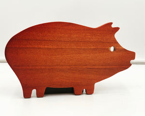 Rubber Wood Pig Cutting Board