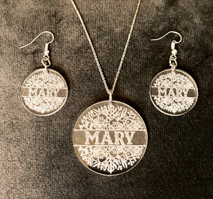 Personalized Earring & Pendant Set