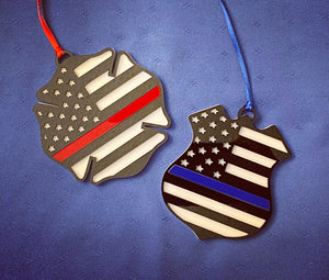 Fire / Police Badge Ornament
