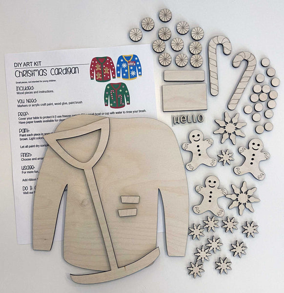 Cardigan Sweater Craft Kit