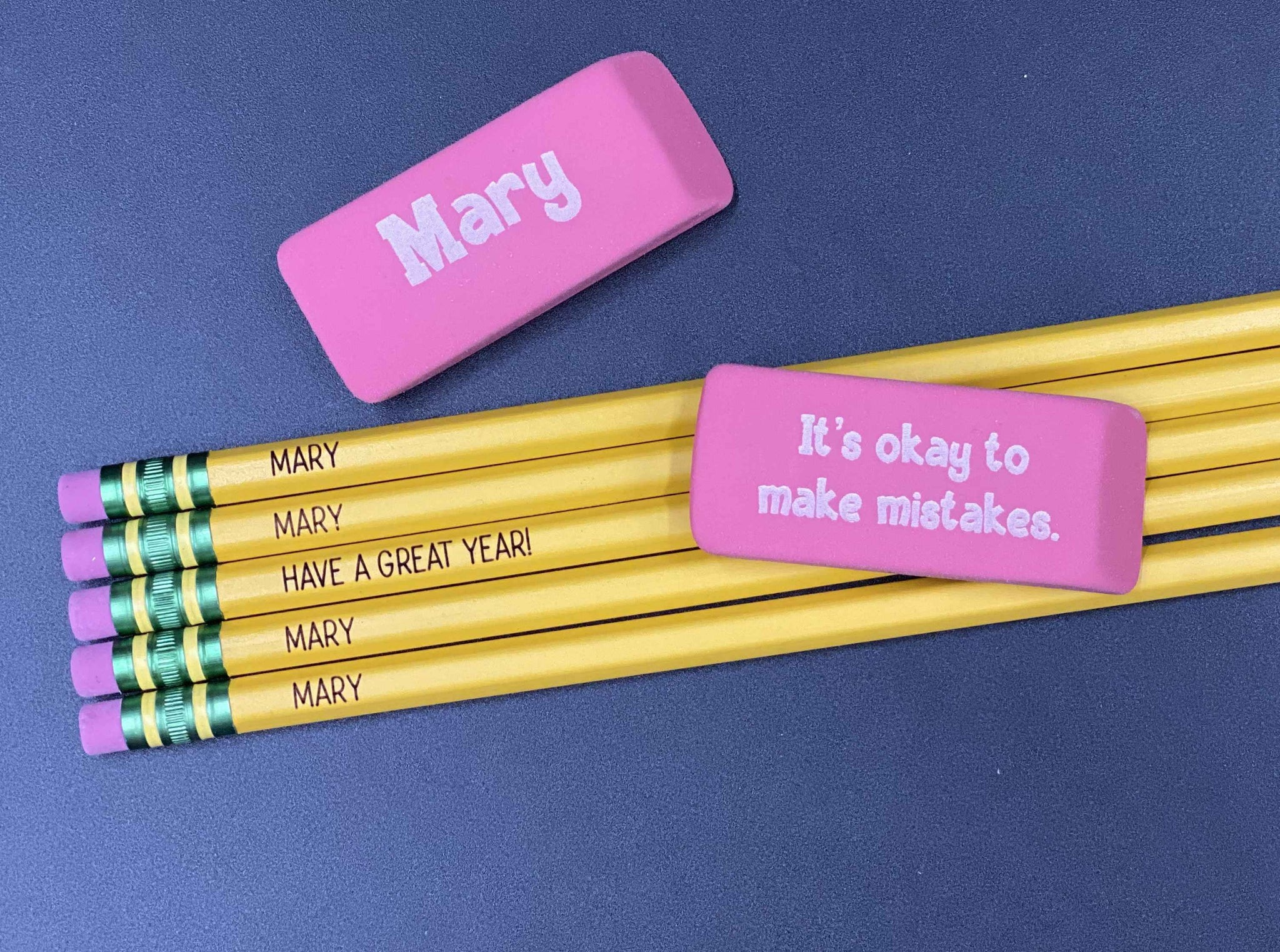 Personalized Pencils & Erasers