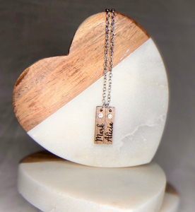 Wooden Bar Name Necklace