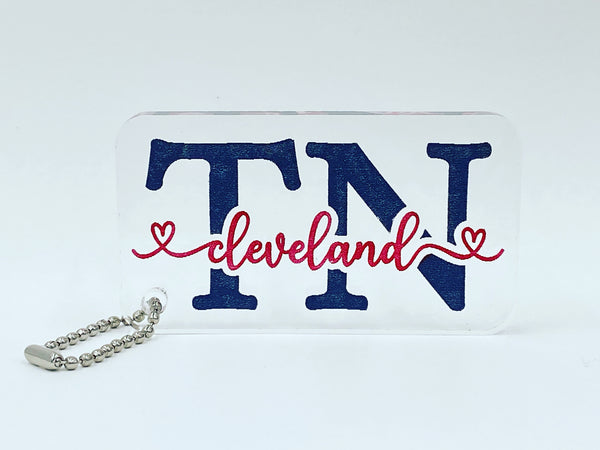 City/State Keychain