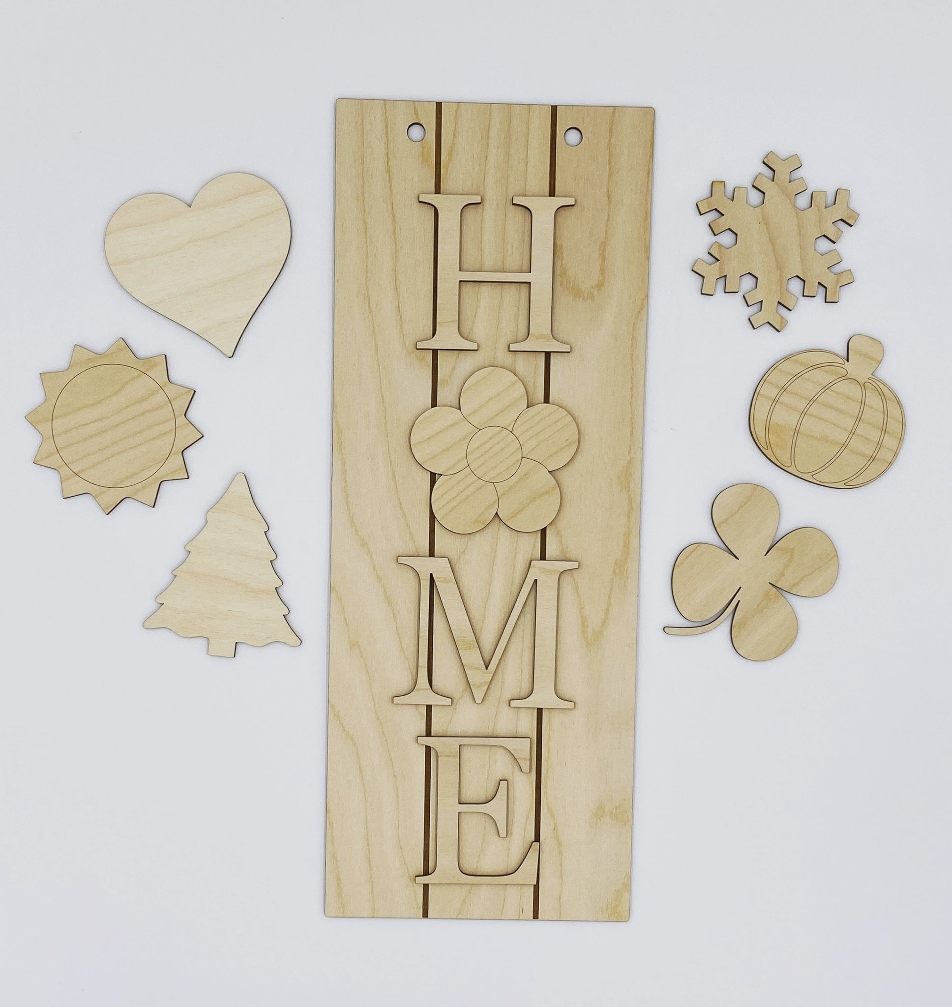"Wooden DIY ""HOME"" Door-Hanger Kit"