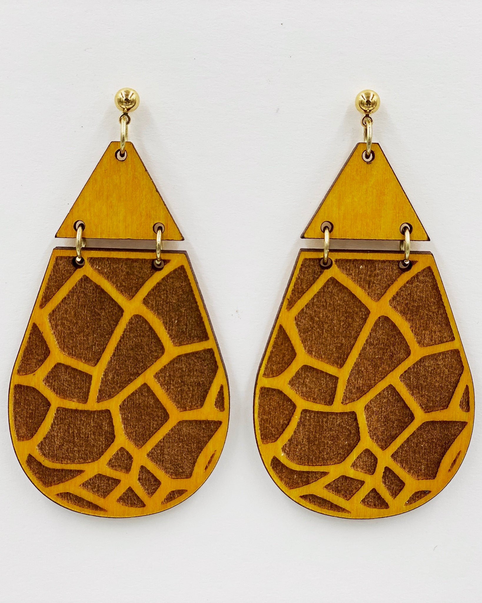 Animal Print Earrings - Giraffe