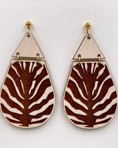 Animal Print Earrings - Zebra