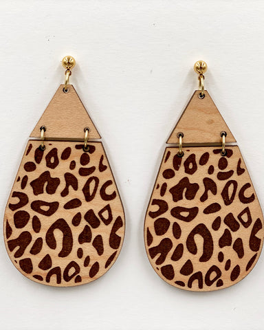 Animal Print Earrings - Leopard