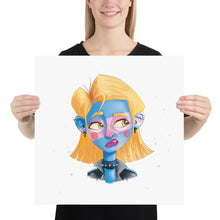 Load image into Gallery viewer, dark girl Photo paper poster