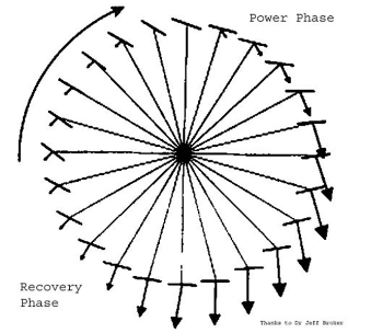 Cycling Clock Diagram, Pedal strike forces according to Dr. Jeff Broker