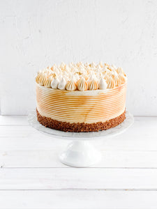 "8"" Caramel Cookie-Butter Spice Cake"