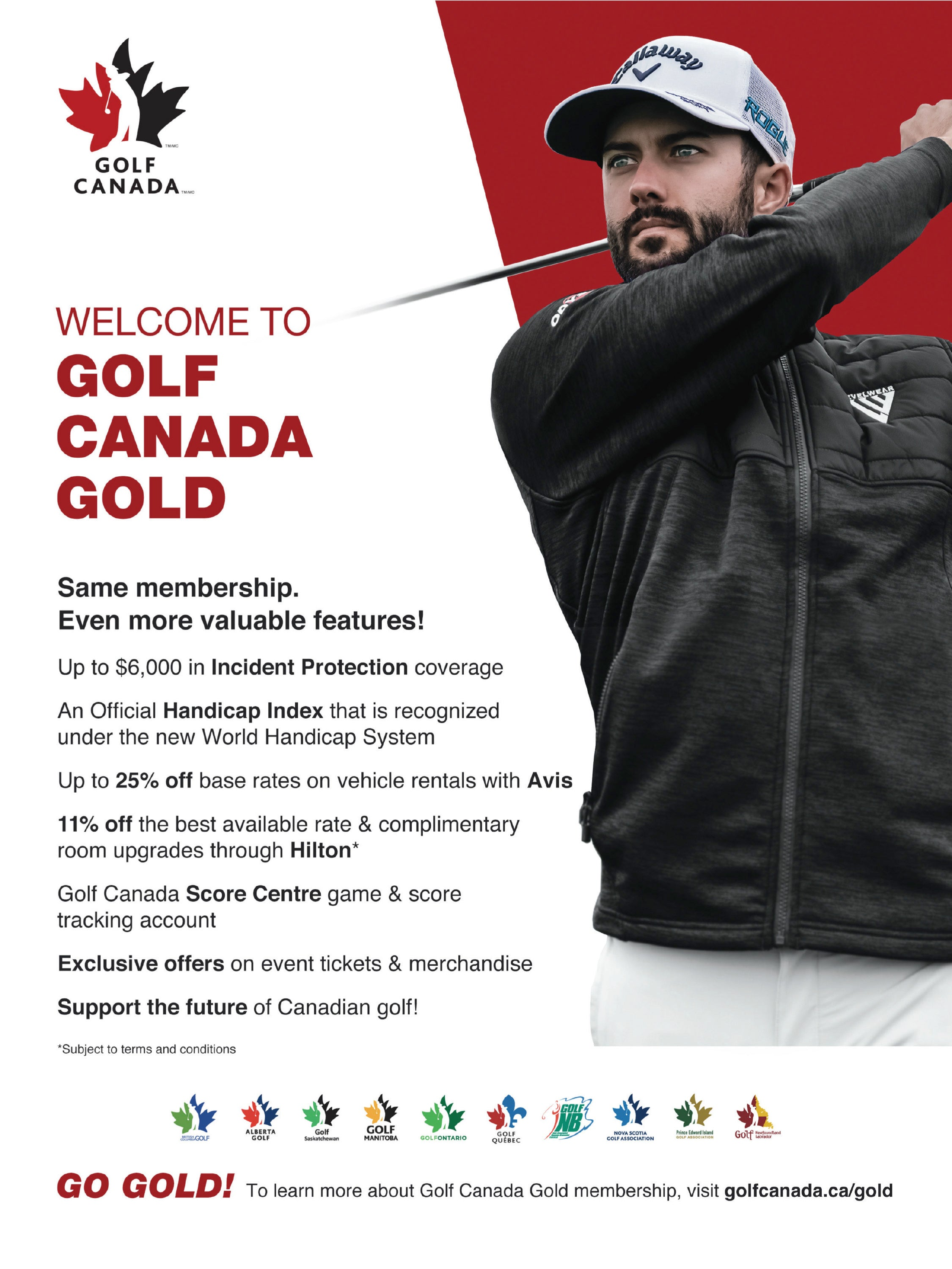 Golf Members Receive a Golf Canada Gold Membership
