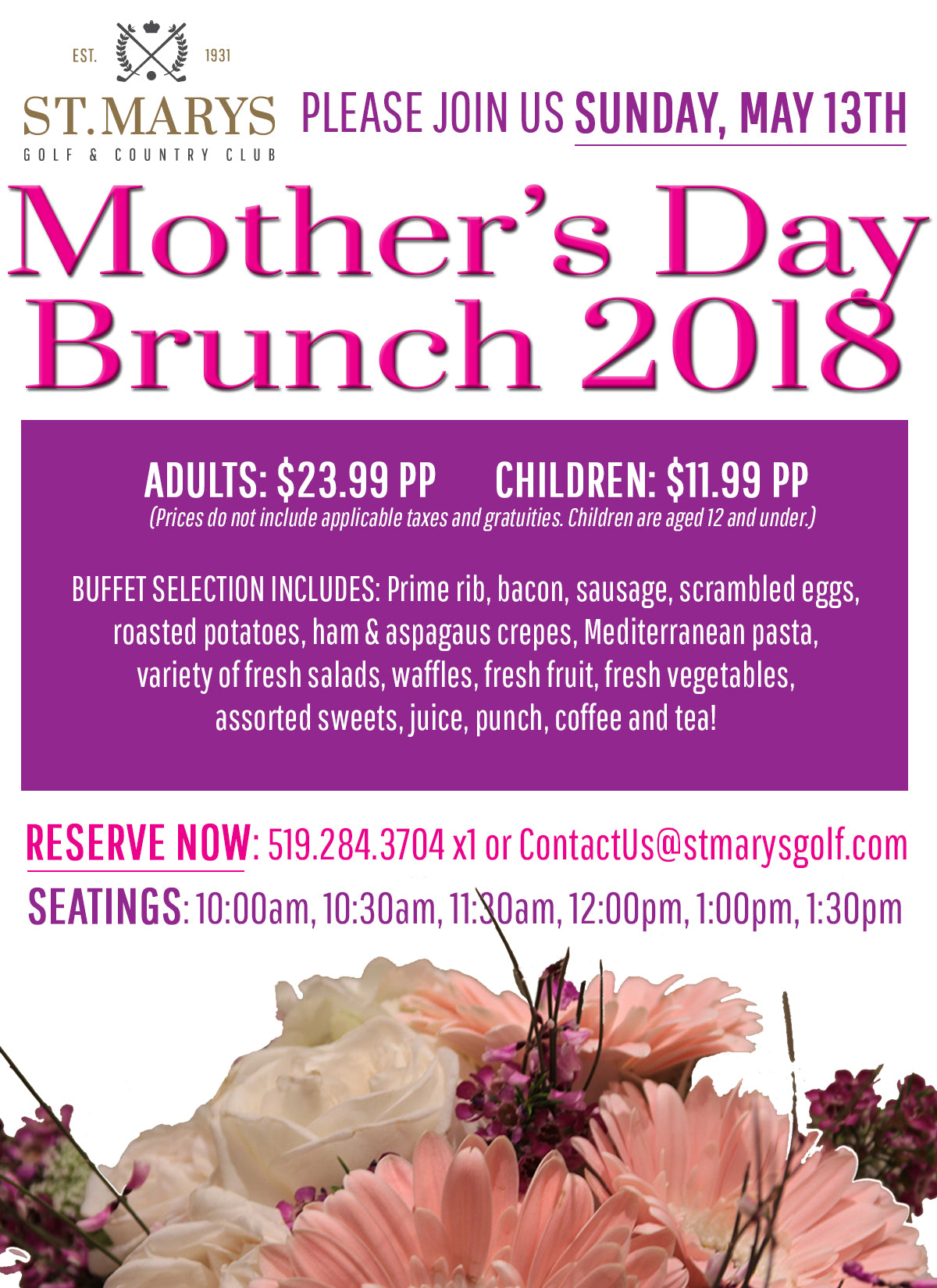 Mother's Day Brunch | 2018