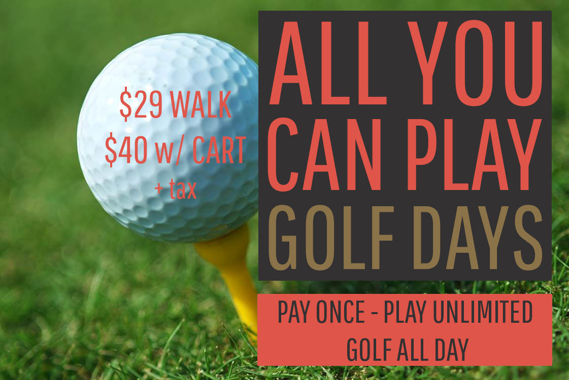 ALL YOU CAN PLAY Golf Days