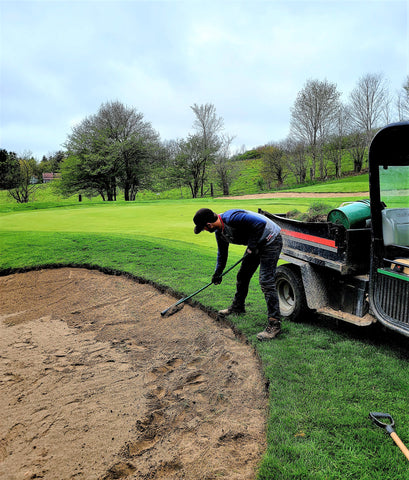 Edging Golf Course Sand Trap at St. Marys Golf Club