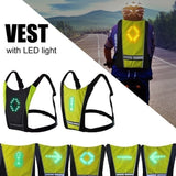 LED Wireless Hi-visibility Cycling Vest with Turn Signals