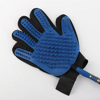 Silicone Dog Bathing Glove with Shower Attachment