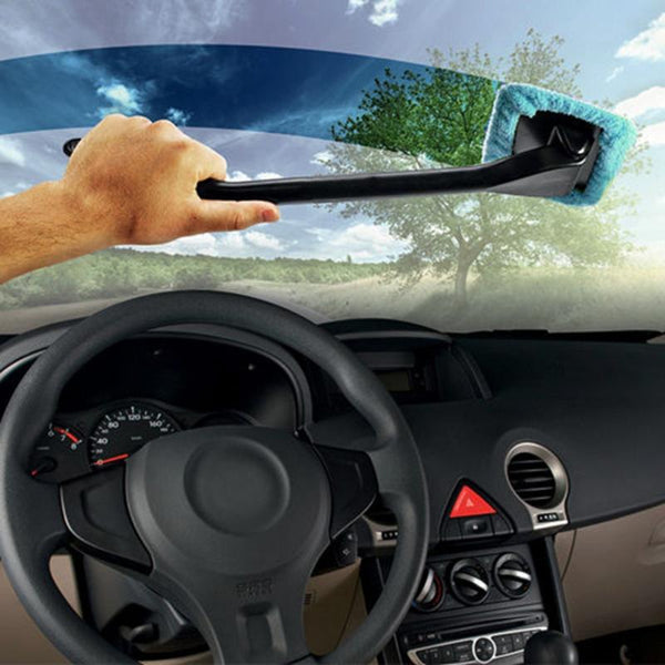 Pivoting Microfiber Windshield Cleaner