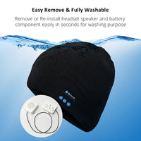 Wireless Bluetooth Beanie Hat with Stereo Speaker Headphones & Microphone