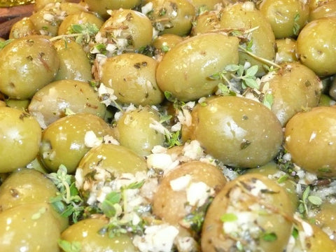 Garlic And Thyme Dressed Olives