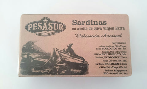 Sardines in Organic Extra Virgin Olive Oil 120g tin
