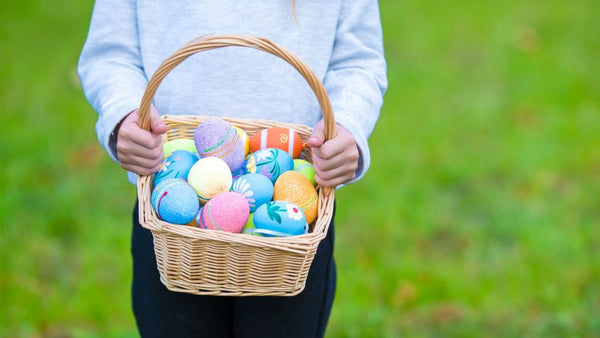 Kids easter basket eggs