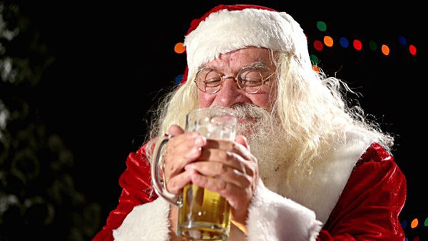 Santa Enjoying a Beer