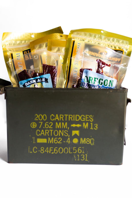 Ammo Can Alcohol Jerky Gift Pack - Jerky Dynasty