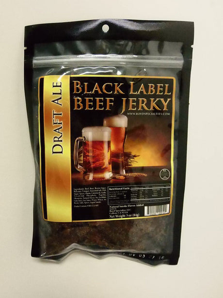 Black Label Beef Jerky Draft Ale Black Label Beef Jerky - Jerky Dynasty