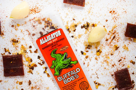alligator jerky barbecue flavored