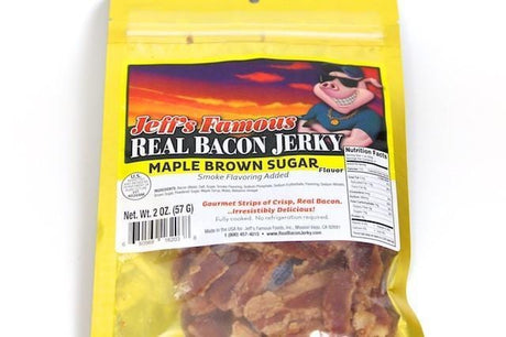 Jeff's Famous Jerky Bacon Jerky Maple Brown Sugar - Jerky Dynasty