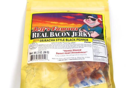 Bacon Jerky Sriracha Style Black Pepper - Jerky Dynasty