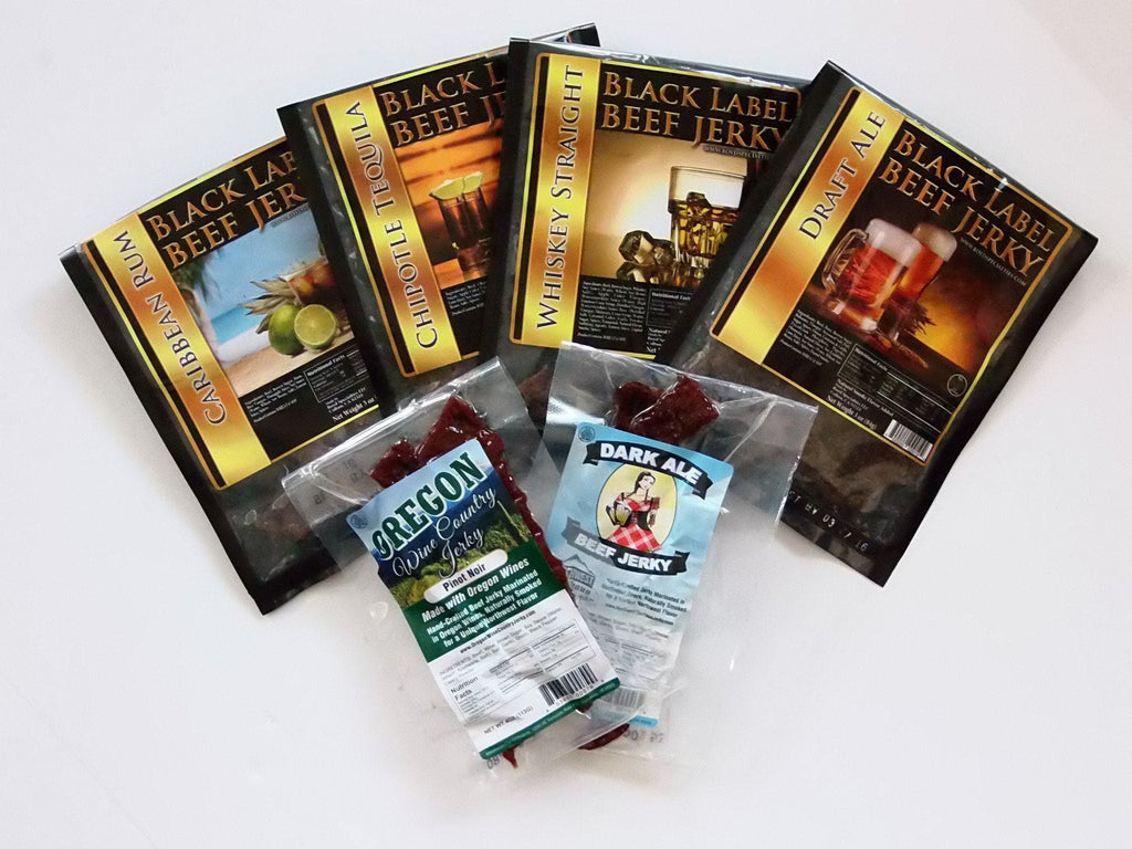 6-Pack of Alcohol Jerky (Man Cave Gifts) - Jerky Dynasty