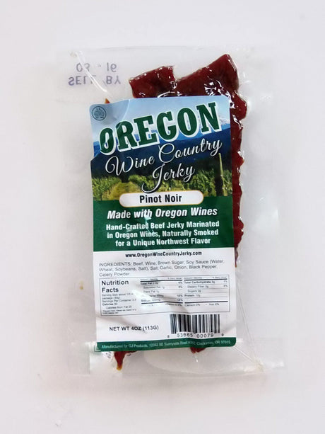 Oregon Wine Country Jerky Pinot Noir Wine Jerky - Jerky Dynasty