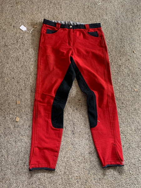 Size 10 Kyron flex full seat Red breeches